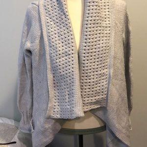 Michael Kors ice gray cardigan size M